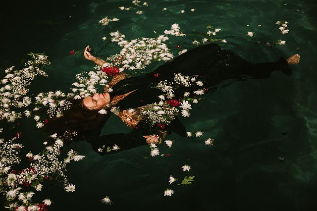 Floating, Flowers, Petals, Swimming, Swimming Pool