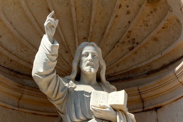 Peter, Jesus, Church, Sculpture