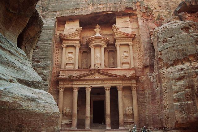 Treasury, Khazne Firaun Al, Temple, Petra, The Red