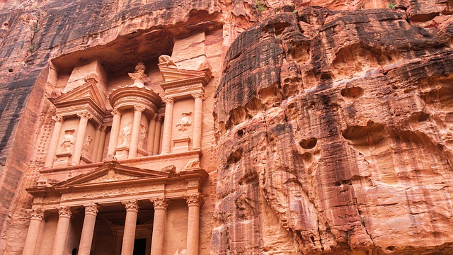 Petra, Jordan, Monument, Sand Stone, Treasury