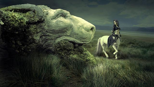 Fantasy, Landscape, Fairy Tales, Centaur, Petrified