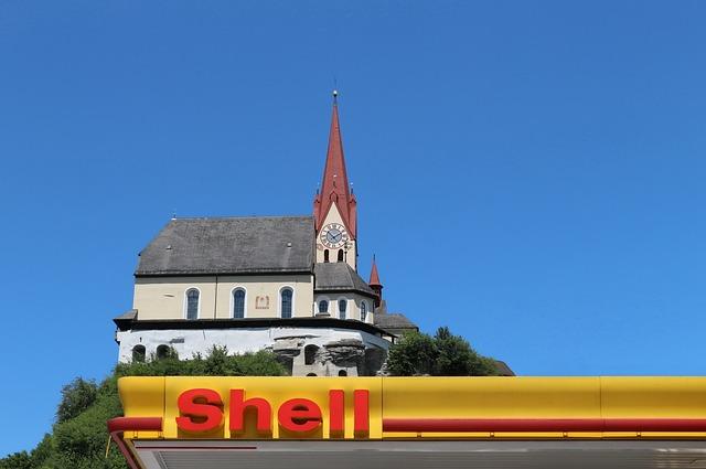 Petrol Stations, Church, Shield, Traffic, Blue, Board