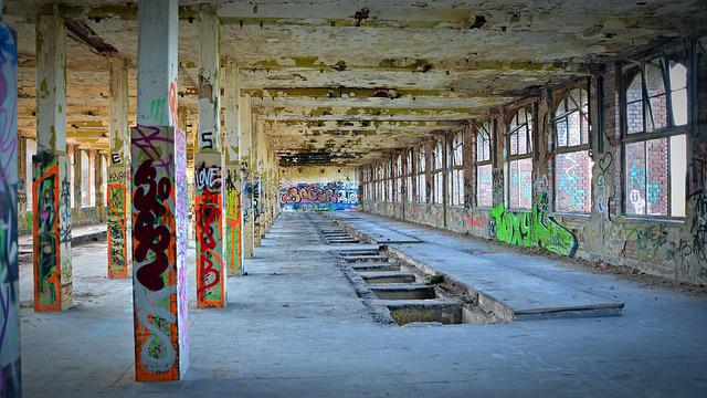 Lost Places, Factory, Pforphoto, Graffiti, Old, Leave
