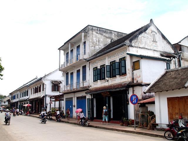 Luang Prabang, Laos, Town, Phabang, Asia, City, Road