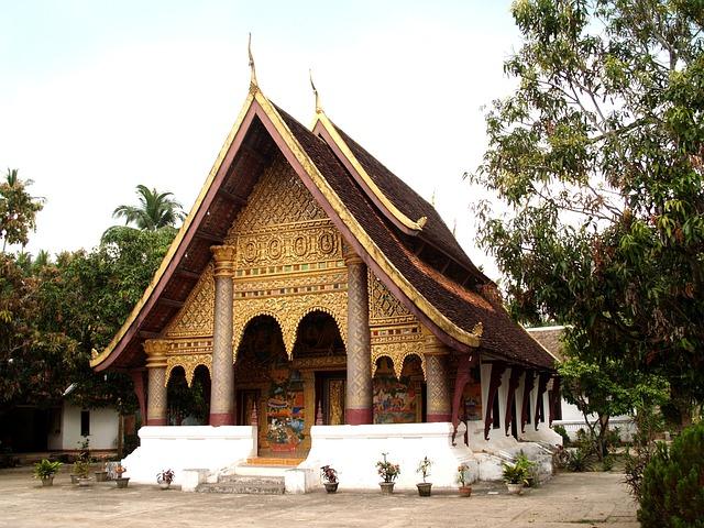 Luang Prabang, Laos, Phabang, Asia, Mekong, Temple