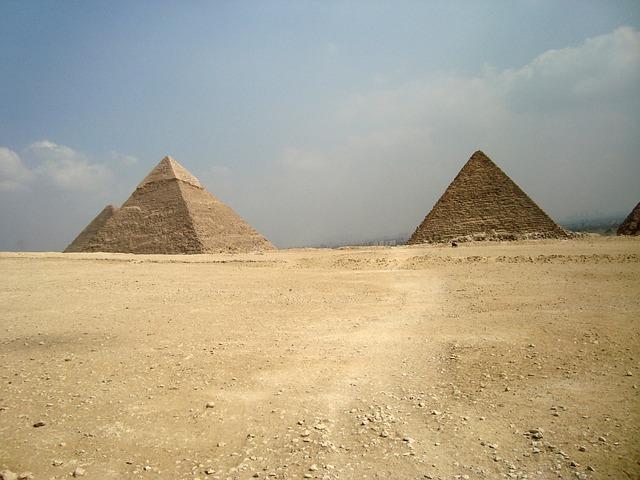 Pyramids, Desert, Egypt, Giza, Tombs, Pharaoh