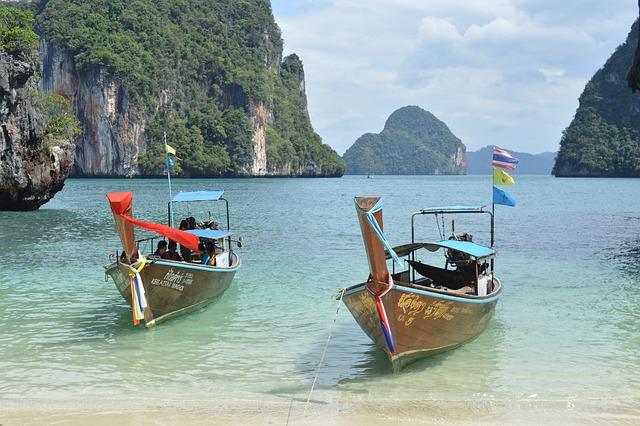 Phi Phi Island, Thailand, Boats