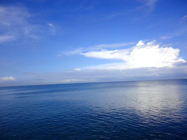 free photo philippines ocean clouds deep ocean blue deep