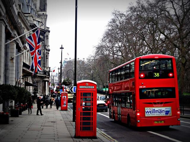 London, Street, Phone, Cabin, Red Bus, Uk