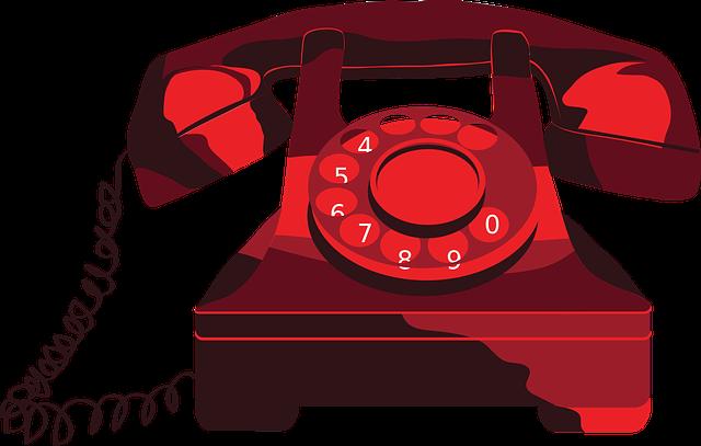 Phone, Red, Vintage, Vectors