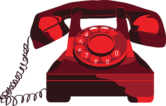 Phone, Red, Vintage, Vectors