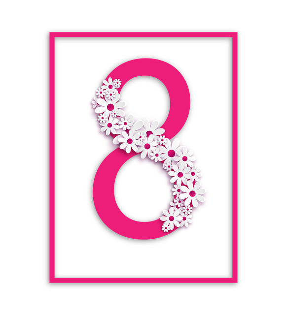 Eight, Pink, Frame, Photo Frame, Congratulation
