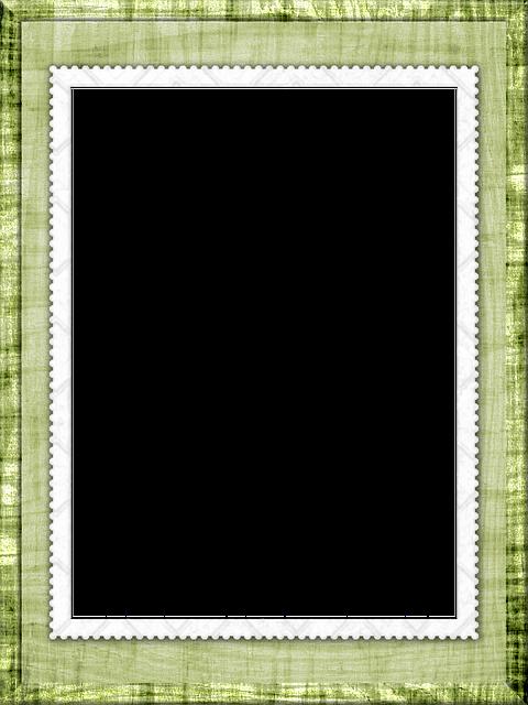 Photo Frame, Tree, Texture, Green, Gentle