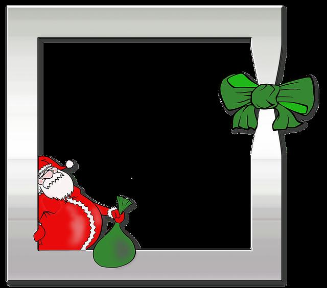 Photo Frame, Photo, Album, Santa Claus, Silver