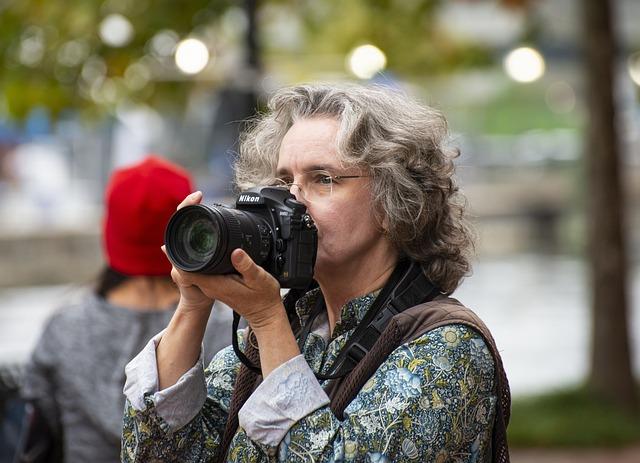 Camera, Photographer, Woman, Lens, Technology, Focus
