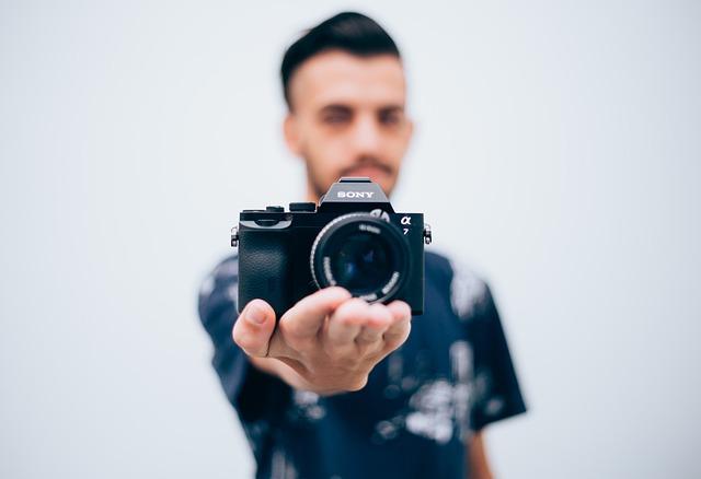 Man, Camera, Photographer, Sony, Hobby