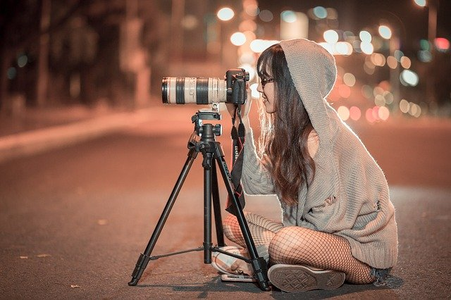 Night, Camera, Photographer, Photo, Picture, Outdoors