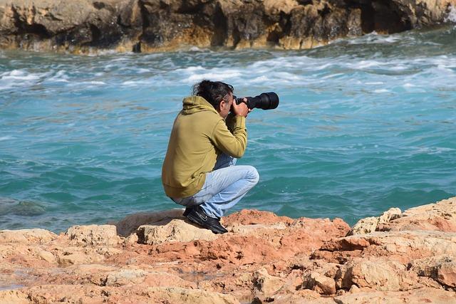 Photographer, Photo Shooting, Sea, Nature, Beach