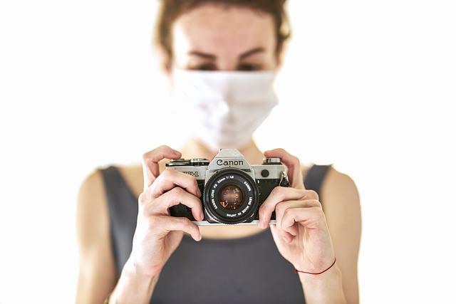 Photographer, Coronavirus, Mask, Retro, Quarantine
