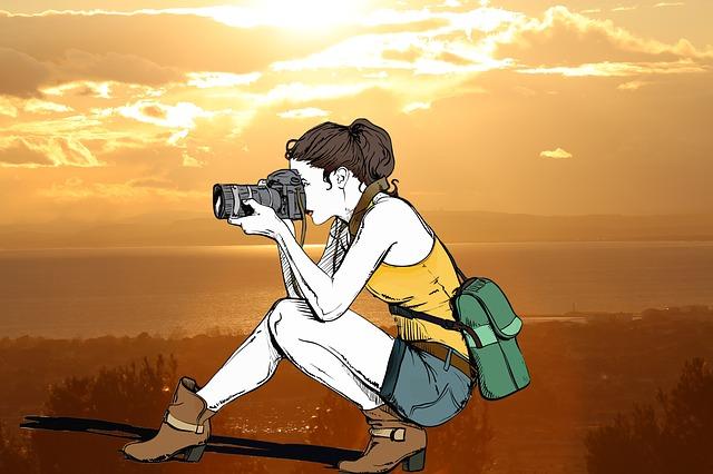 Sun, Sea, Photographer, Sunset, Landscape