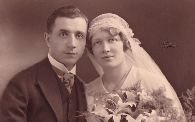 Vintage, Wedding, Grandparents, Old, Photography