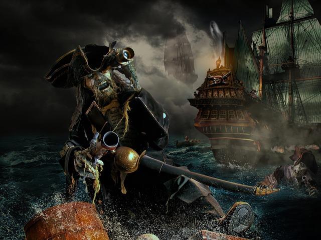 Pirate, Photoshop, Manipulation, Fantasy