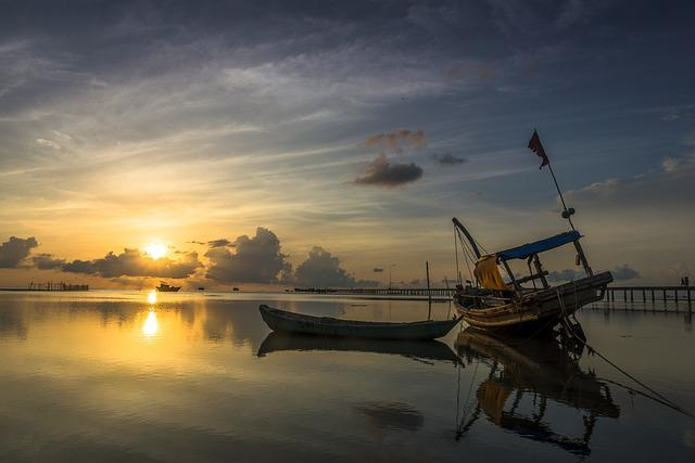 Sunrise, Ham Ninh, Phu Quoc, Island, Vietnam, Landscape