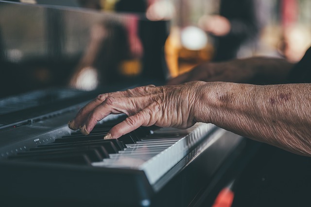 Hands, Instrument, Musician, Old, Person, Pianist