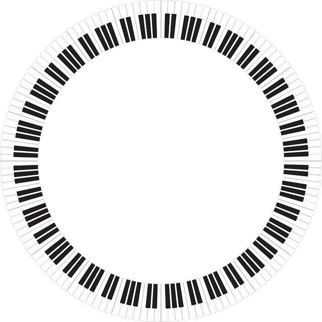 Piano, Frame, Border, Music, Notes, Background
