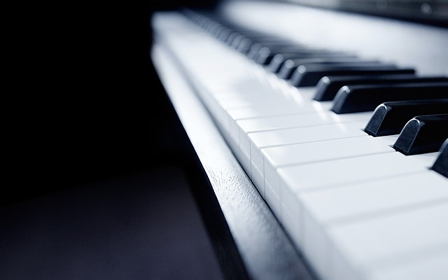 Piano, Music, Still Life, Focus, Detail, Monochrome