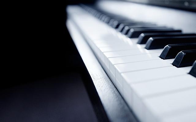 Piano, Music, Still Life, Focus, Detail, Monochrome