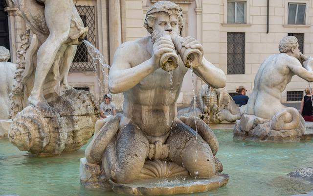Rome, Moor Fountain, Piazza Navona, Italy