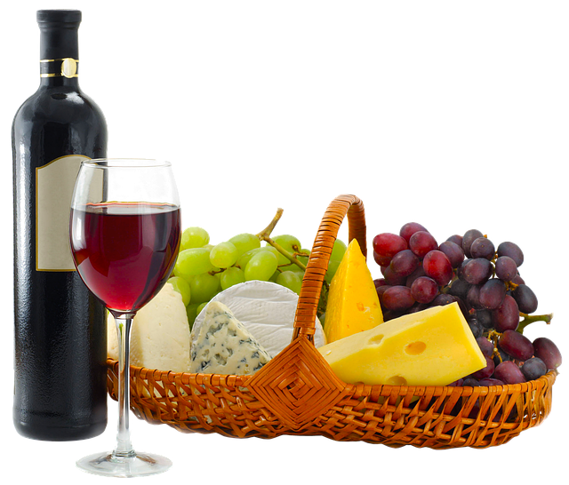 A Bottle Of Wine, Glass, Basket, Picnic, Alcohol