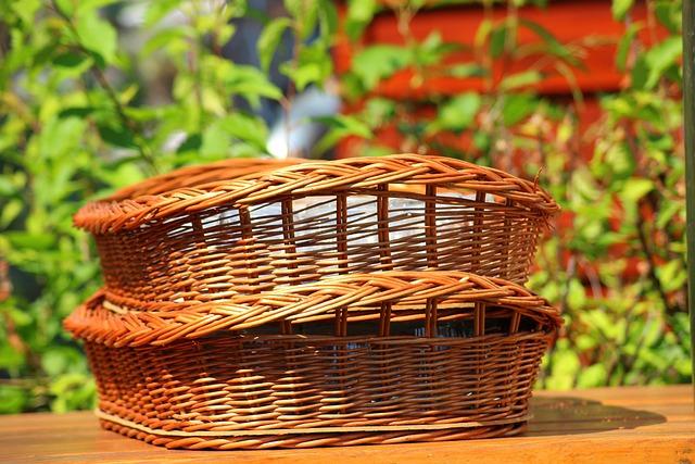 Basket, Wicker, Wicker Basket, Picnic, May, Spring