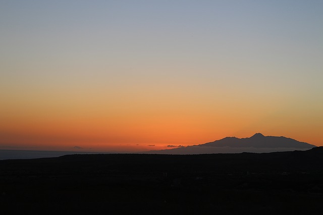 Sunset Sky, Volcano, Landscape, Sky, Pico Do Fogo