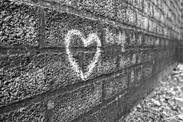 Graffiti, Wall, Heart, Drawing, Pictogram, Chalk, Love
