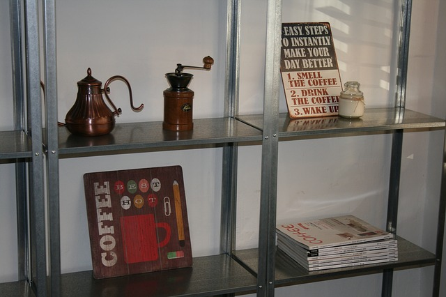 Coffee Mill, Kettle, Picture Frame