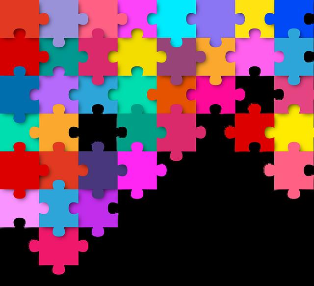 Puzzle, Colorful, Color, Pieces Of The Puzzle