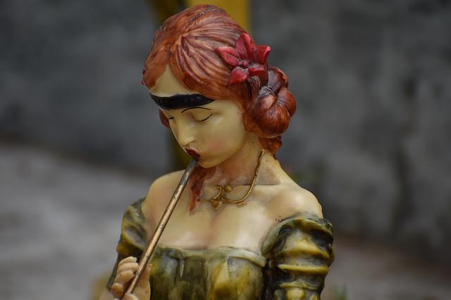 Pied Piper, Woman, Red Hair, Figurine