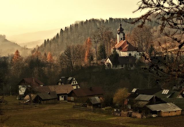 Poland, Malopolska, Pieniny, Mountains, City Szczawnica