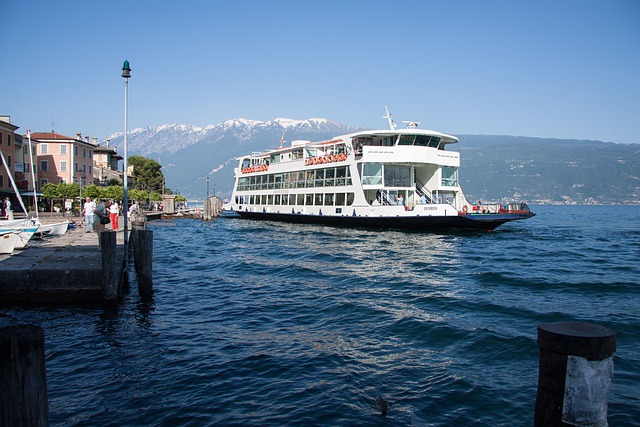 Ferry, Gargnano, Garda, Port, Ships, Pier, Alpine