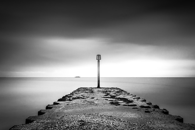 Ship, Weymouth, Dorset, Pier, Jetty, Walkway, Horizon