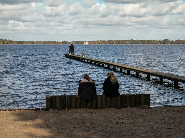 Lake, Water, Sit, Bank, Web, Kai, Pier, Dock, Human