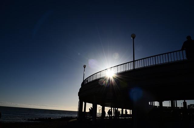 Bandstand, Bridge, Pier, Ocean, Sea, Beach, Seascape