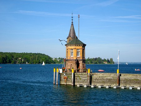 Port Constancy, Lake Constance, Water, Pier
