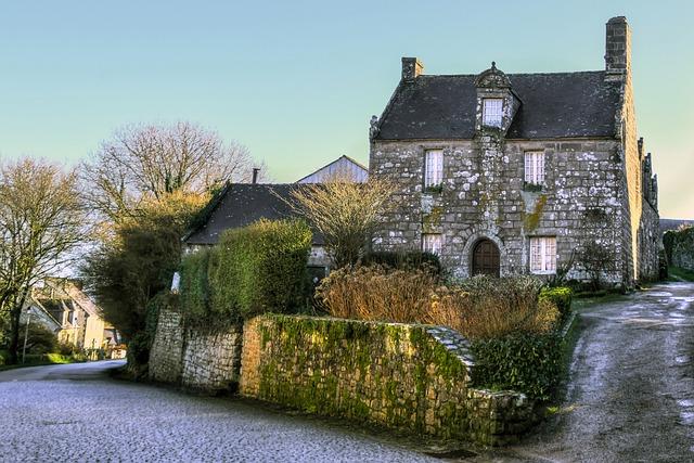 House, Pierre, Facade, Street, Former, Village