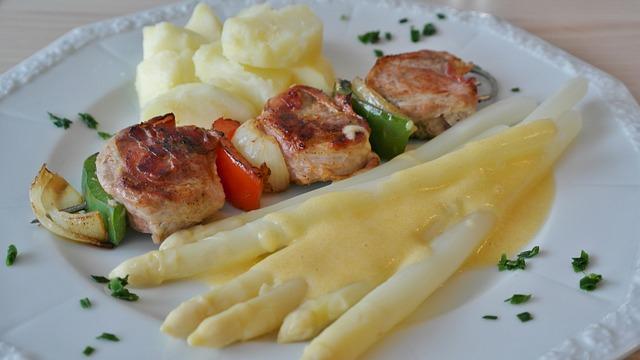 Meat Skewer, Fillet, Pig, Shish Kebab, Onion, Paprika