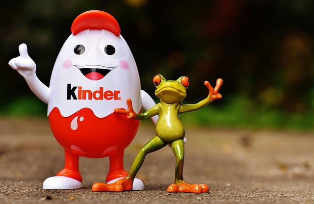 Kids Chocolate, Children, Egg, Piggy Bank, Frog, Funny