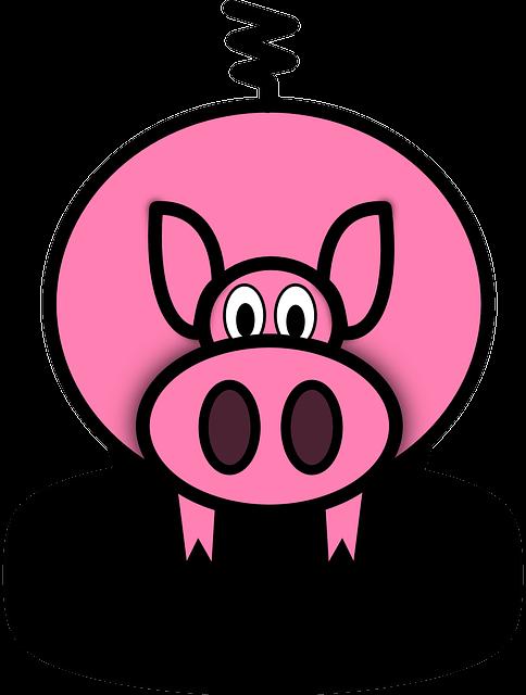 Pig, Pink, Pork, Piglet, Farm, Animal, Piggy, Hog