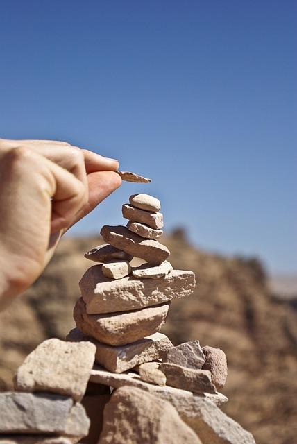 Petra, Jordan, Stones, Pile, Desert, Blue Desert